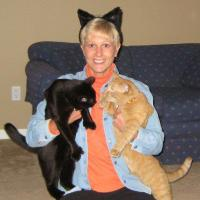 Sue with cats