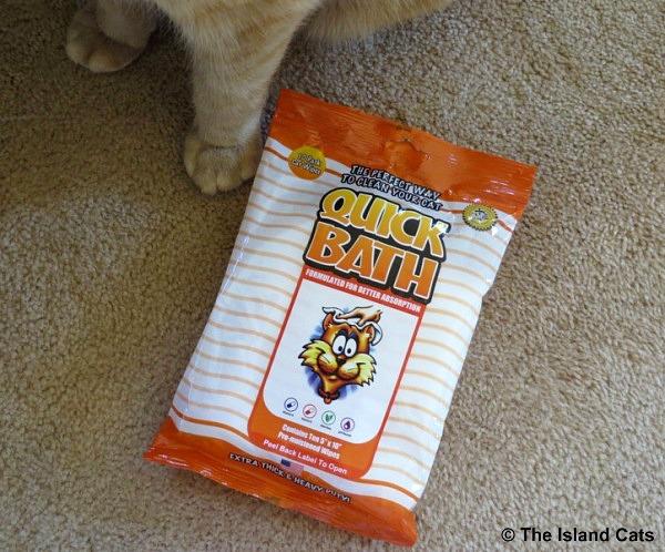 Quick Bath cat wipes