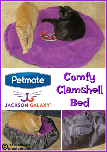 Petmate Jackson Galaxy Comfy Clamshell bed