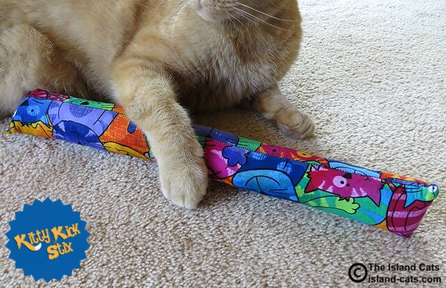 Kitty Kick Stix is handmade and stuffed with primo nip