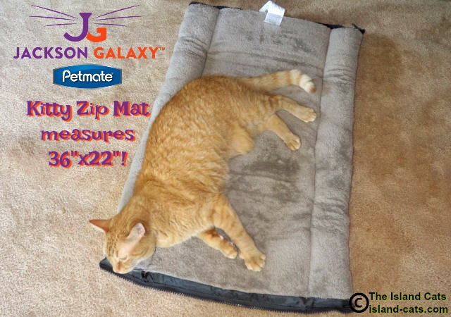 When opened, the Kitty Zip Mat is huge