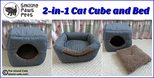 Smiling Paws Pets 2-in-1 Cat Cube and Bed