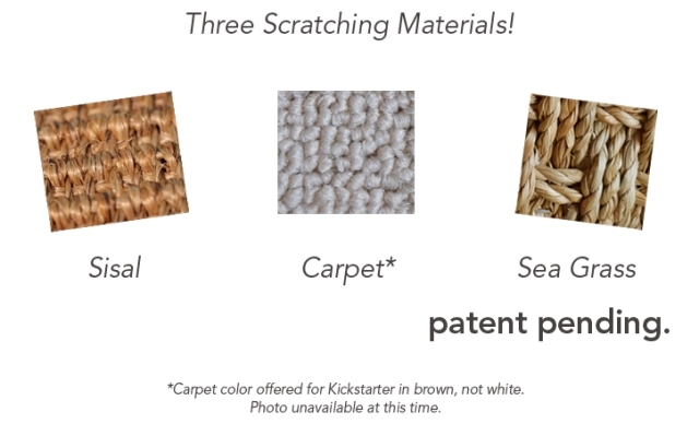 Scratching pad materials