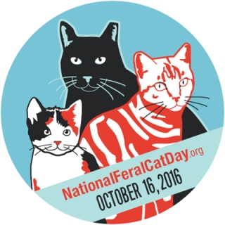 National Feral Cat Day logo circle