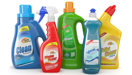 Keep household cleaners away from pets