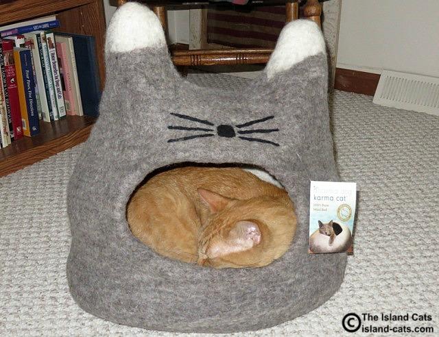 Dharma Dog Karma Cat wool cat bed