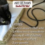 We're Staying Warm with the Art of Paws Heated Pet Mat