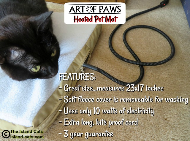 Art of Paws heated pet mat features