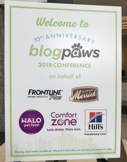 BlogPaws 2018 sign
