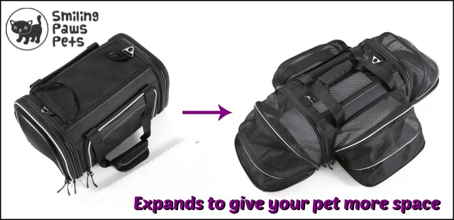 Smiling Paws Pets expandable carrier
