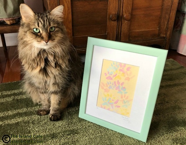 Zoey with Quint painting