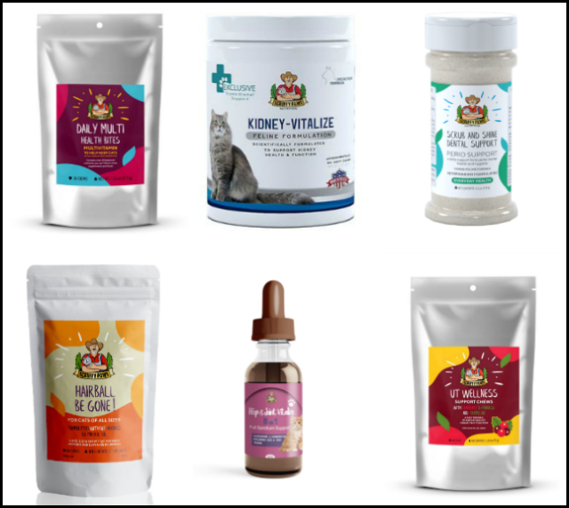 Scruffy Paws Nutrition products