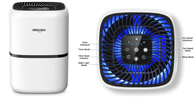Graphic showing the top of the Okaysou AirMic 4S air purifier
