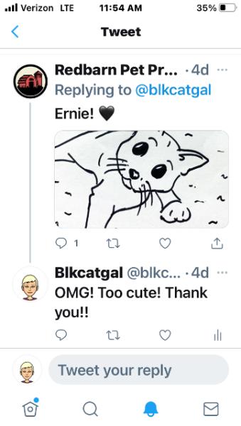 Tweet of doodle of Ernie